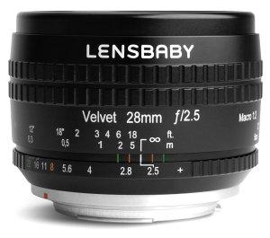 Lensbaby Velvet 28mm f/2.5 Lens Announced