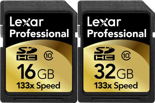 Lexar Media 16Gb & 32GB Professional 133x Secure Digital High Capacity (SDHC) Memory Cards