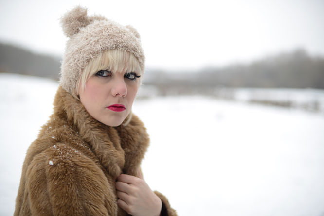 Portrait in the snow