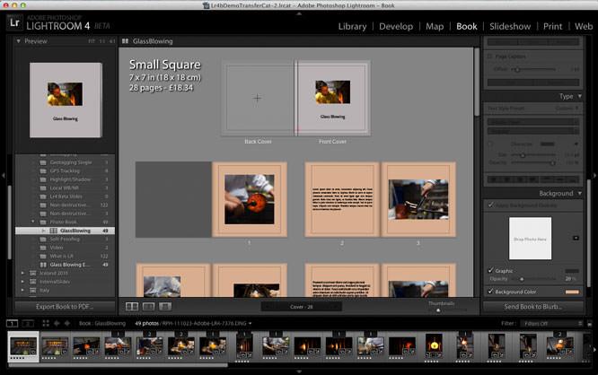 Lightroom 4 beta - book creation