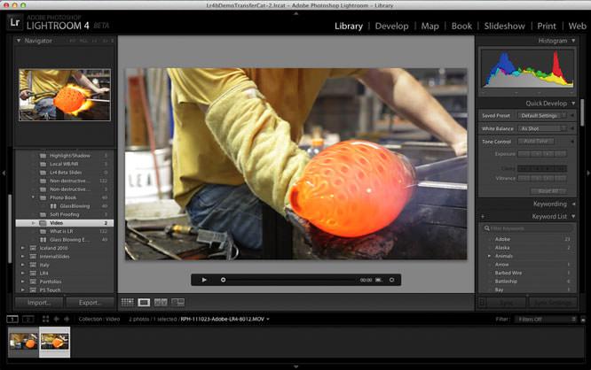 Lightroom 4 beta - video editing