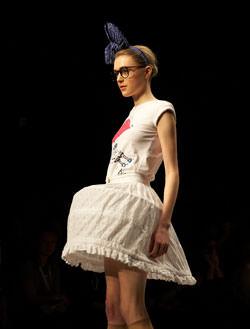 Model at London Fashion Weekend