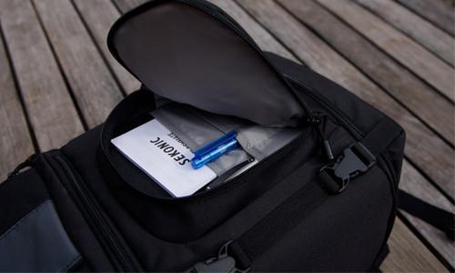 Lowepro SlingShot 202 camera bag front pocket
