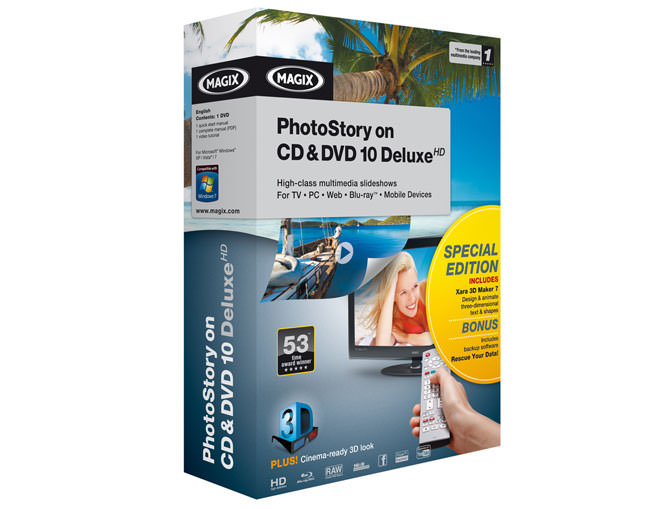Magix PhotoStory On CD & DVD 10 Deluxe HD Special Edition