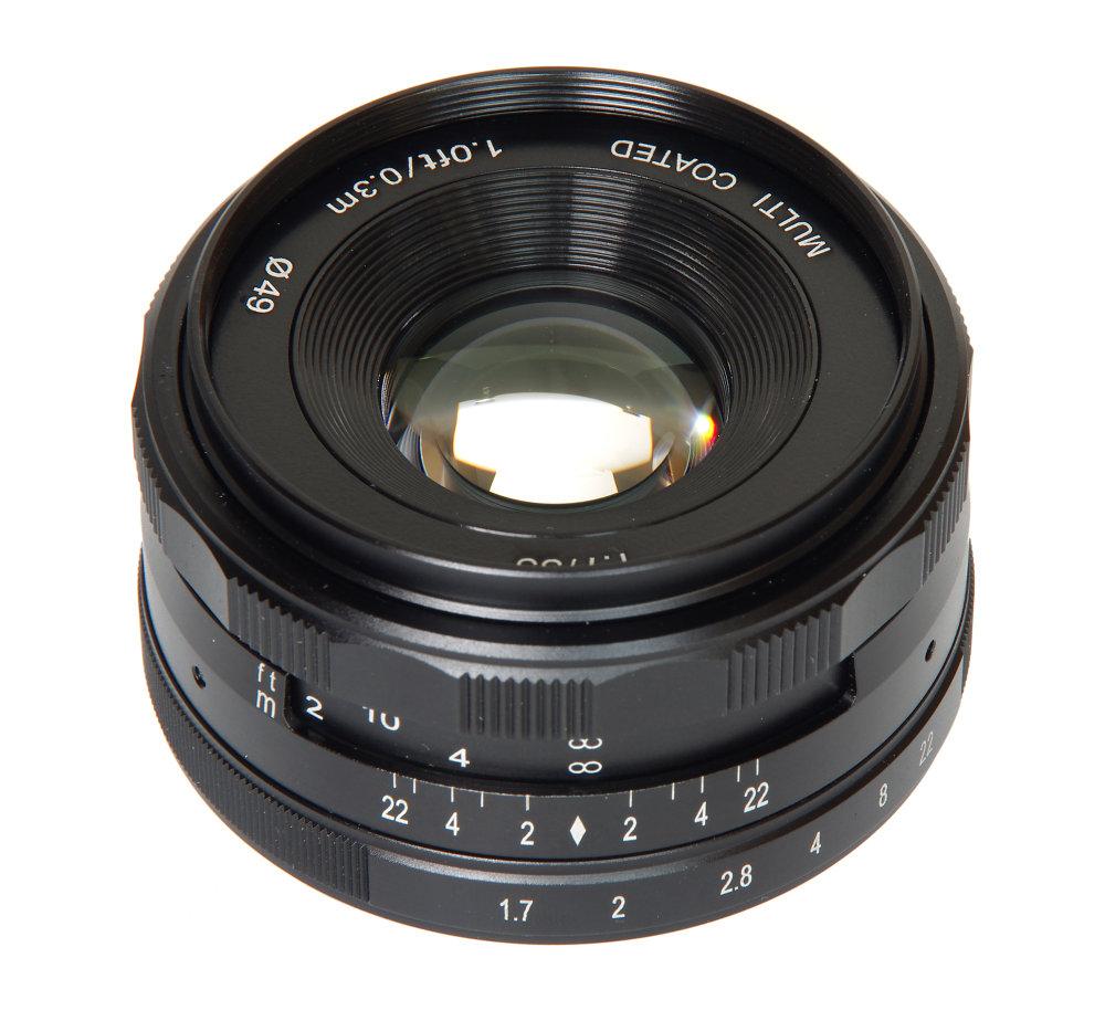 Meike 35mm F1,7 Vertical View
