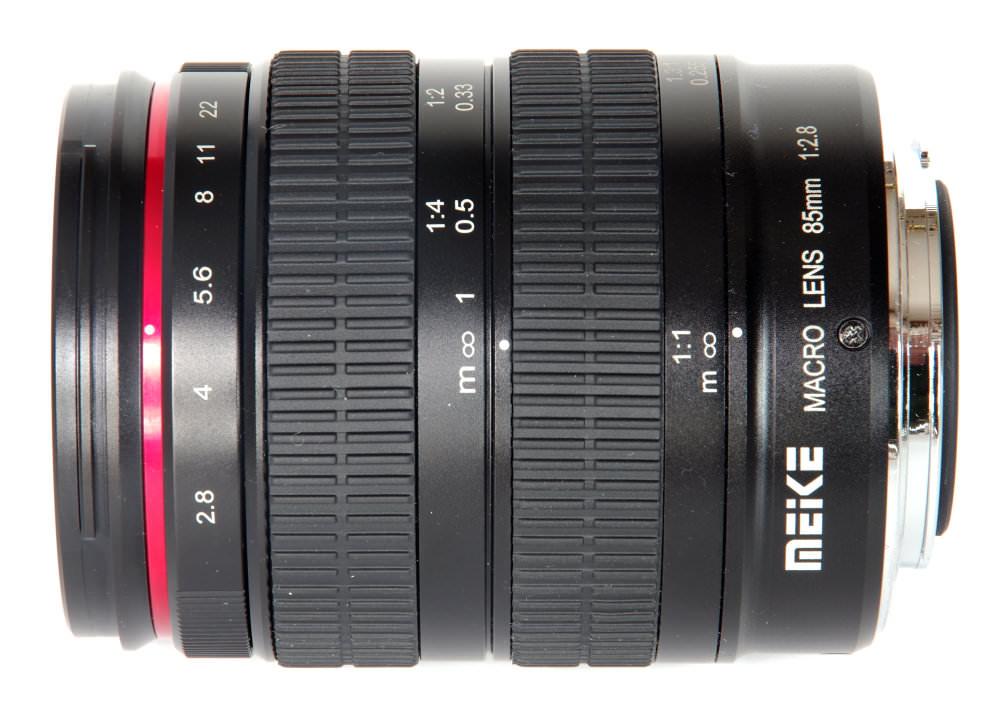 Meike 85mm F2,8 Macro Top View At Infinity