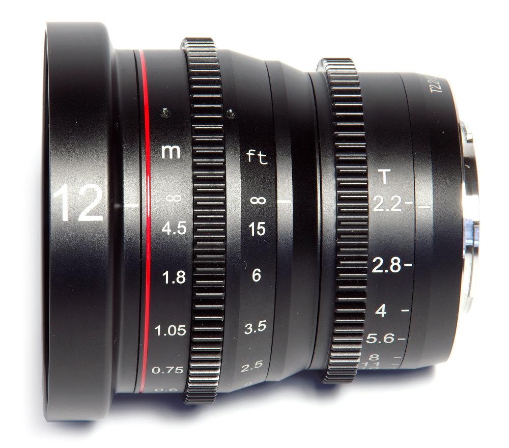 Meike 12mm T2,2 Side View