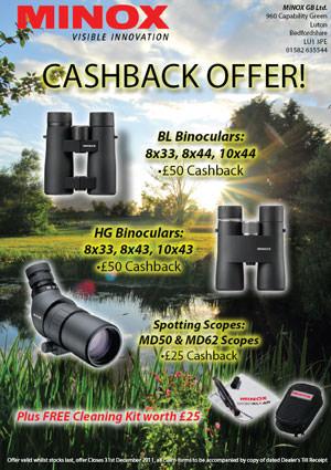 Minox cash back offer