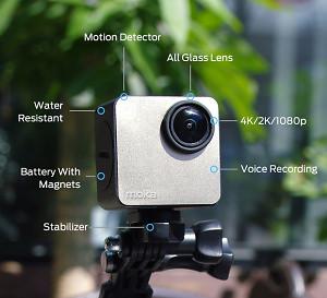 Mokacam Is A 4K Camera Challenging GoPro