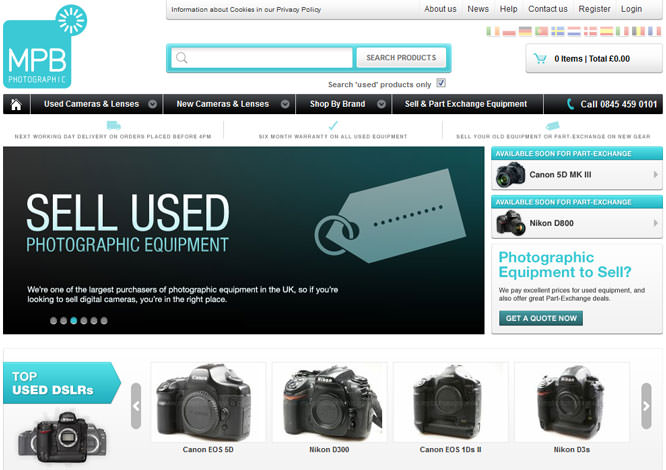 MPB Photographic Website Screenshot