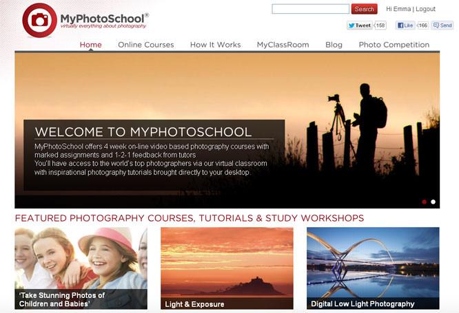 MyPhotoSchool Homepage