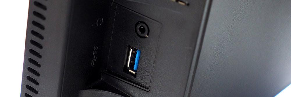 NEC MultiSync EA244UHD Side Ports