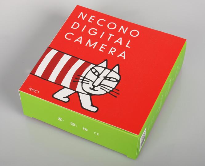 Necono Digital cat camera in its box