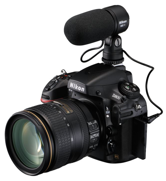 Nikon D800 with ME1 microphone