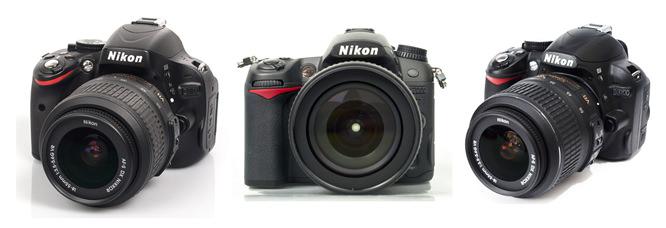 Nikon D3100, D5100 and D7000