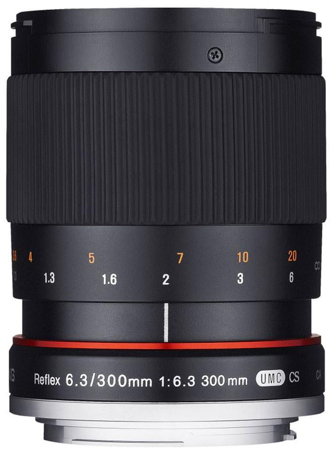300mm f/6.3 Mirror lens