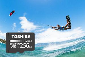 New Toshiba 256GB MicroSD UHS-I Card