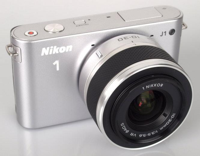 Nikon 1 J1 Silver Front