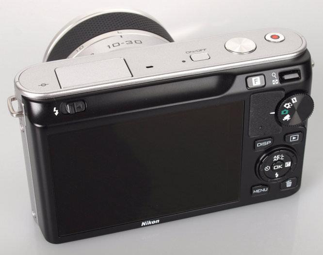 Nikon 1 J1 Silver Back