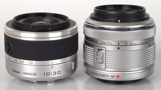 Nikon J1 Kit lens (10-30mm) and Olympus PEN Mini E-PM1 (14-42mm)