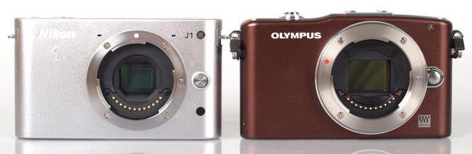 Nikon J1 and Olympus PEN Mini E-PM1