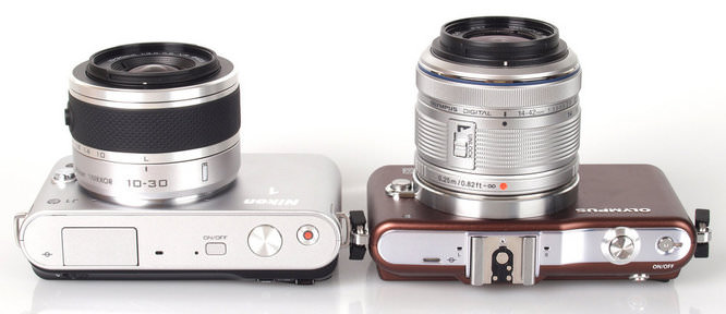 Nikon J1 and Olympus PEN Mini E-PM1