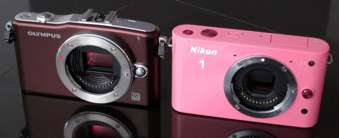 Nikon 1 J1 and Olympus PEN Mini E-PM1