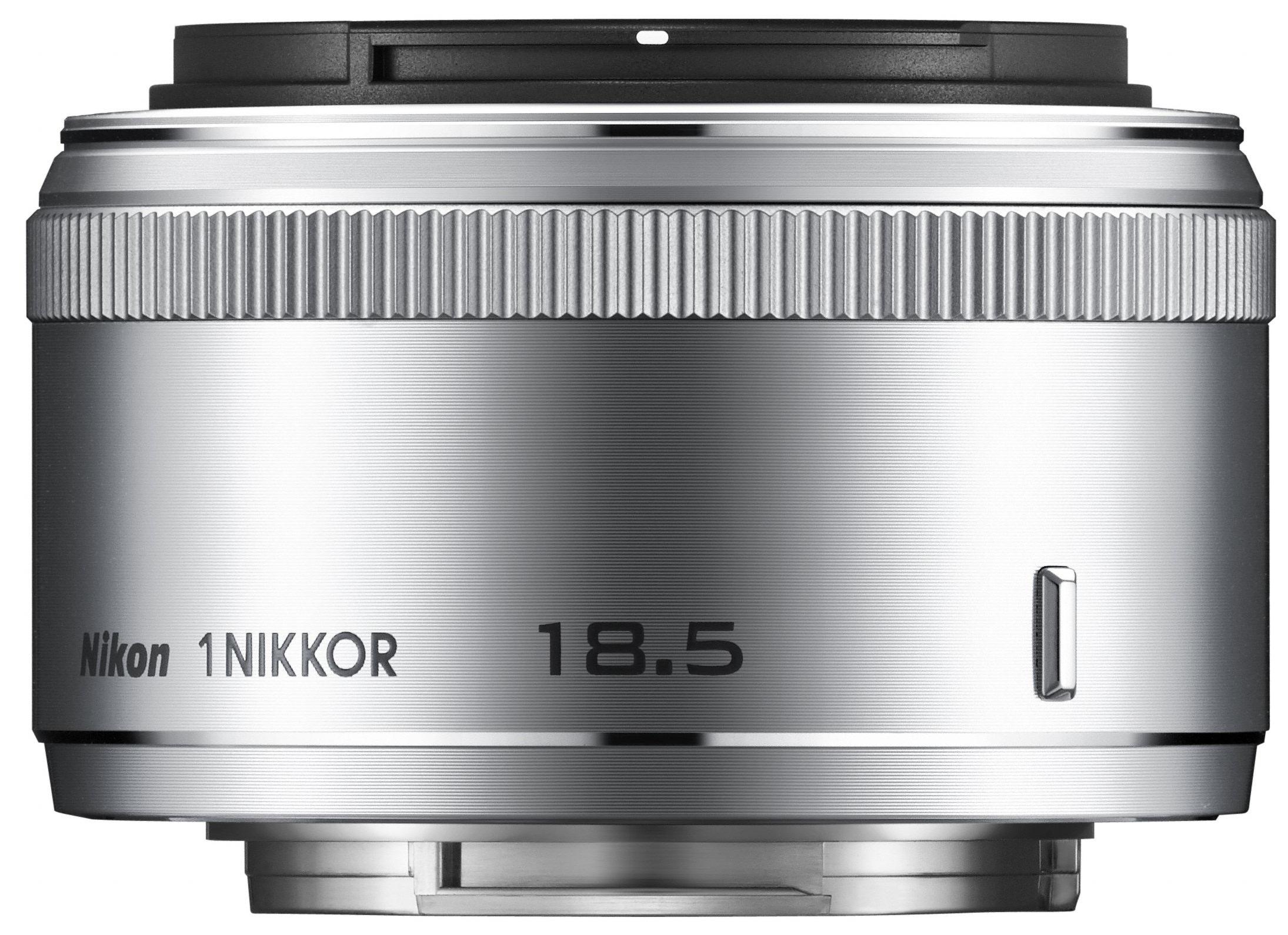 Black Nikon 1 NIKKOR 18.5mm f//1.8 Lens