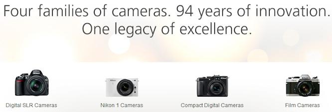 Nikon USA Four Families of Camera