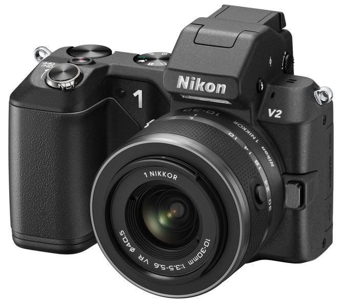 Nikon V2 10 30 BK Frt34l