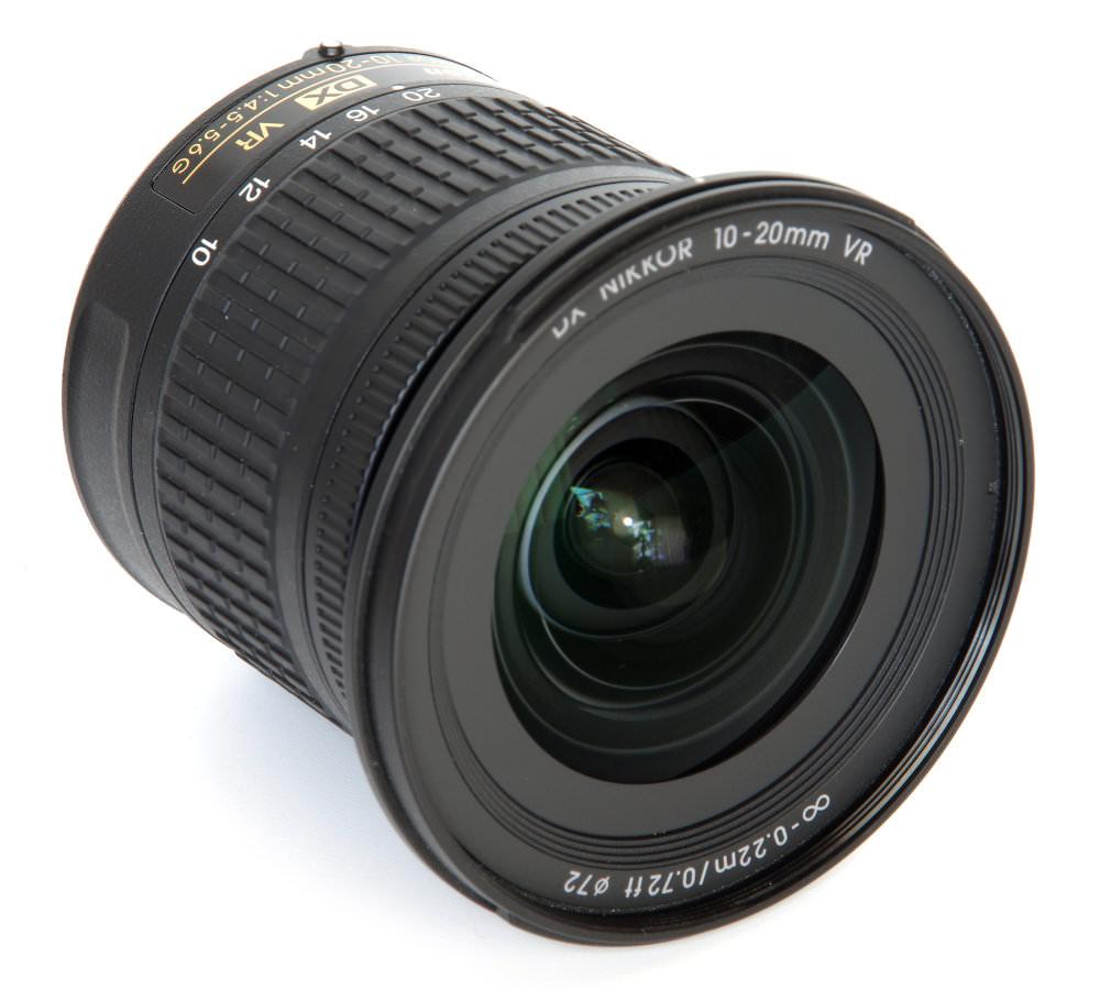 Nikkor 10 20mm Front Oblique View