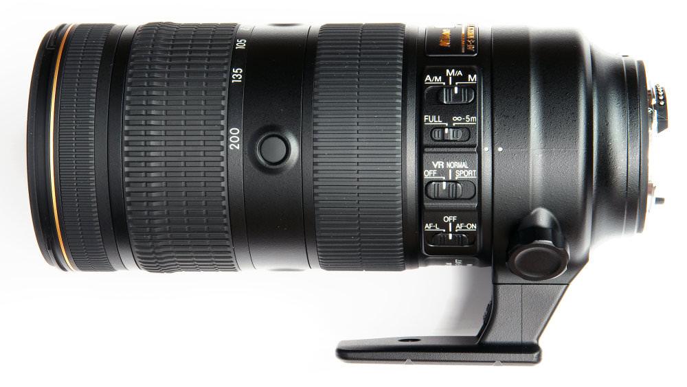 Nikkor 70 200mm F2,8 Fl Ed Vr Side View