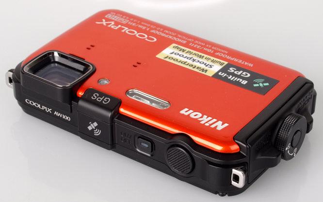 Nikon Coolpix AW100 Top