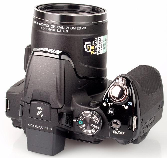 Nikon Coolpix P510 Top