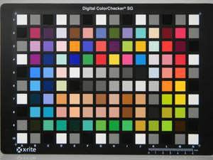 Nikon Coolpix S1000pj colour chart