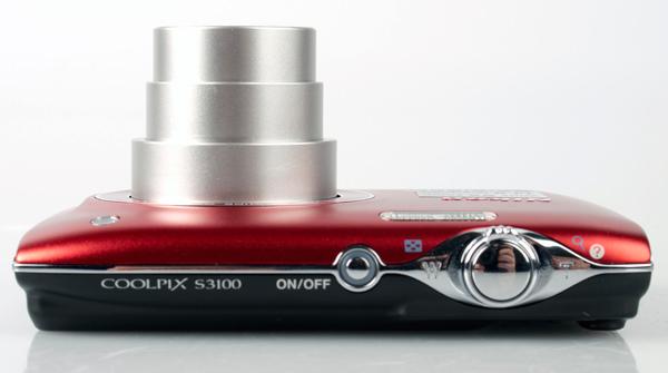 Nikon Coolpix S3100 top