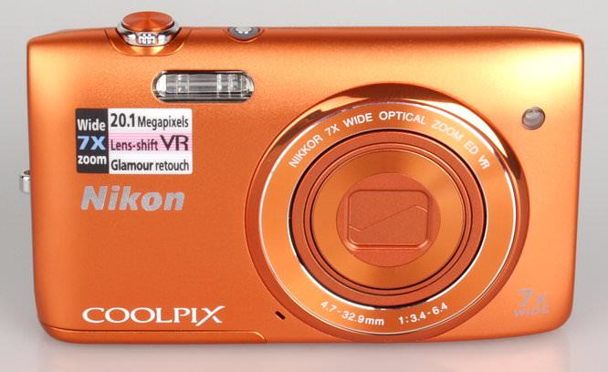 Nikon Coolpix S3500 Orange (2)