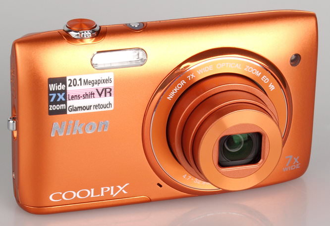 Nikon Coolpix S3500 Orange (3)