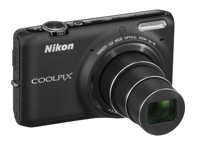 Nikon Coolpix S6500 BK Front34r Lo T