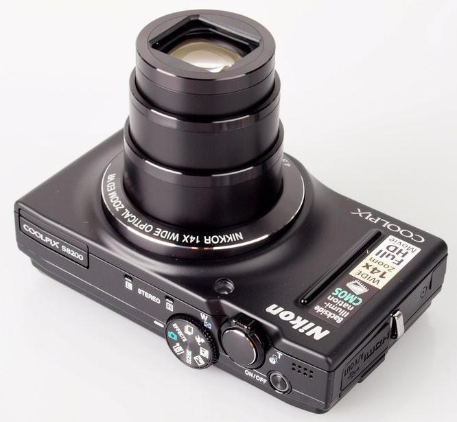 Nikon Coolpix S8200 Top