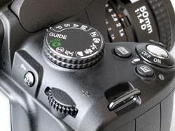 Nikon D3000 command dial