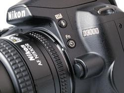 Nikon D3000 side buttons