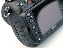 Nikon D300s DSLR rear controls