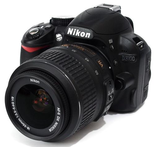Nikon D3100 front side