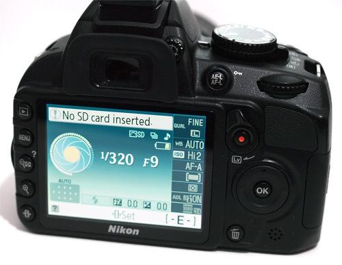 Nikon D3100 back