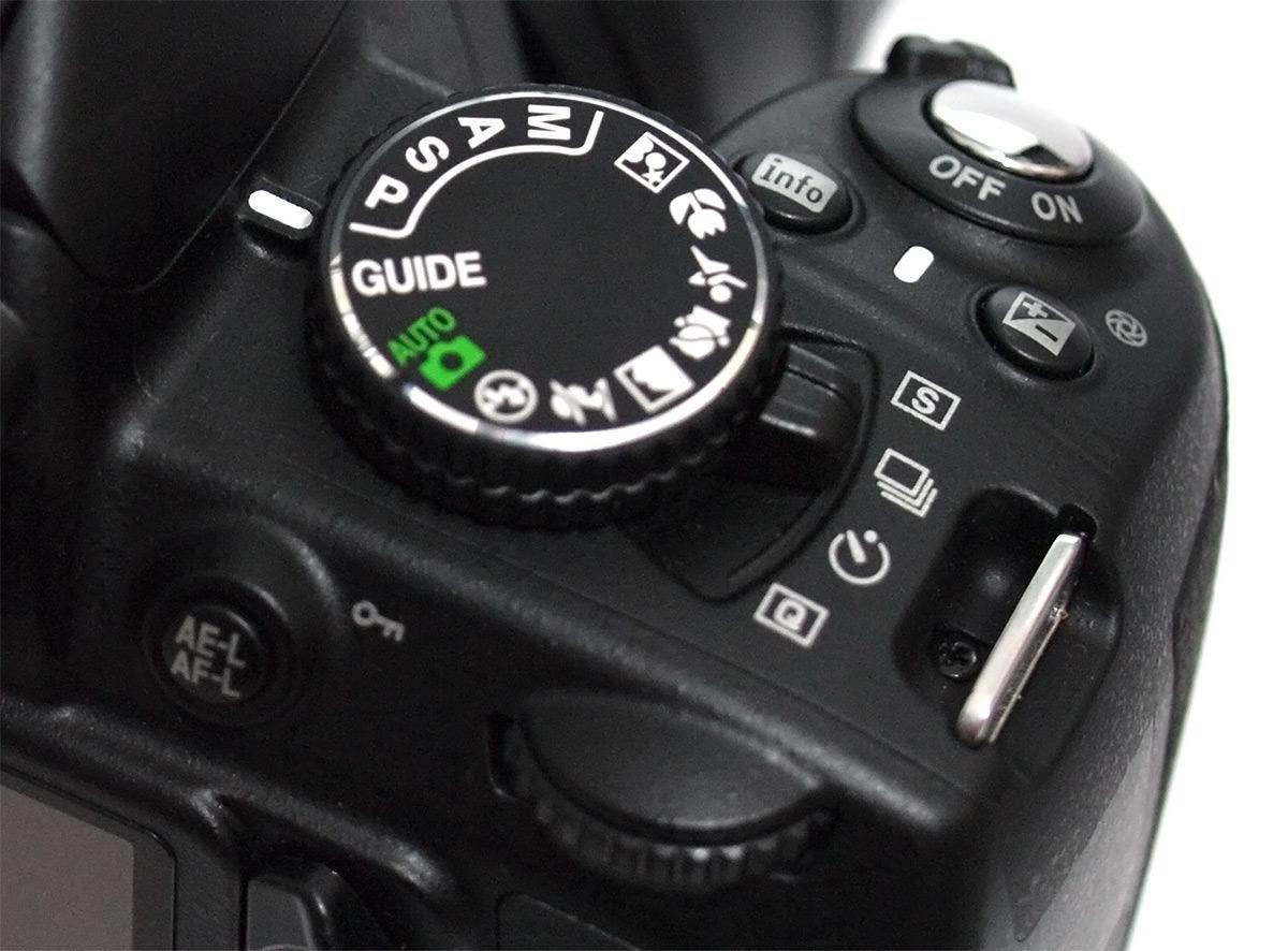 Nikon D3100 mode dial & Nikon D3100 Digital SLR Review
