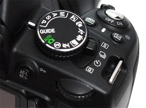 Nikon D3100 mode dial