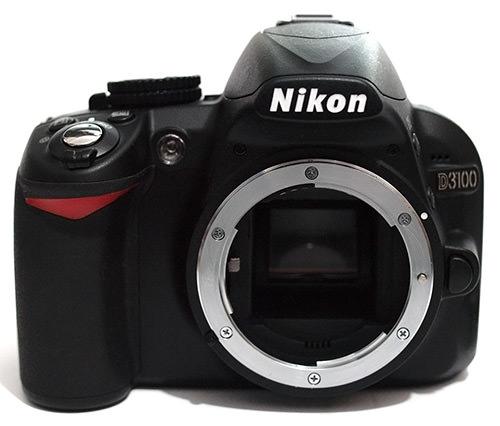 Nikon D3100 front no lens