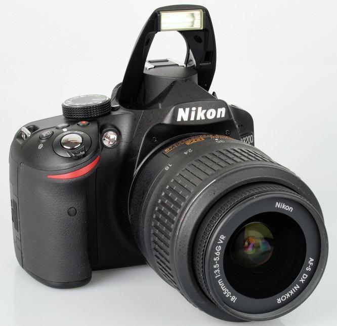 Nikon D3200 Flash Up