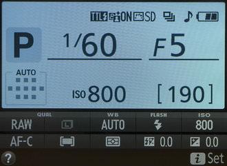Nikon D3300 Classic Screen
